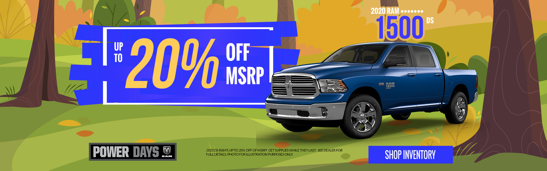20 Ram 1500 - Lease for $349 per month