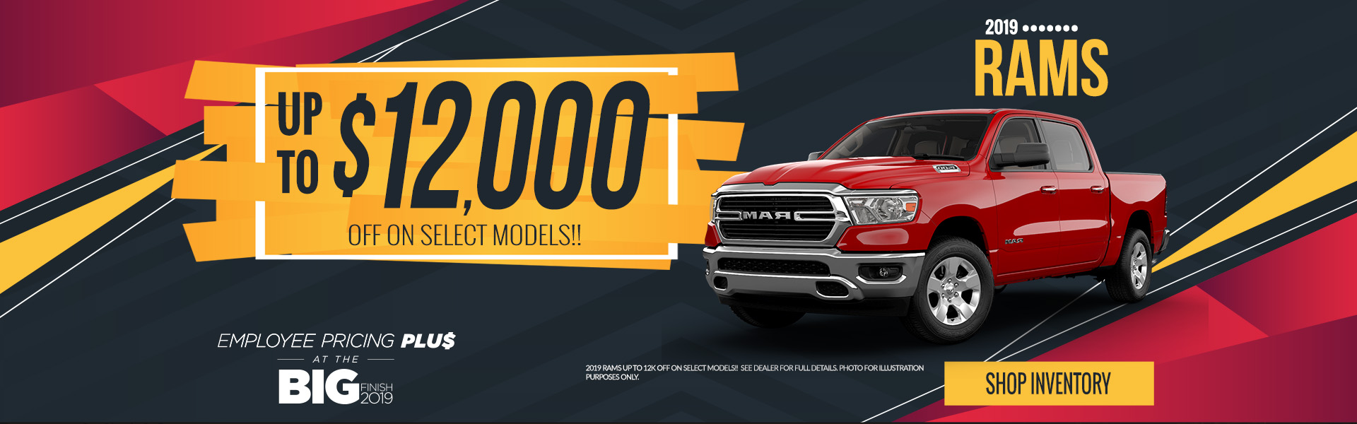 2019 Ram Trucks - up to 12,000 off on select models