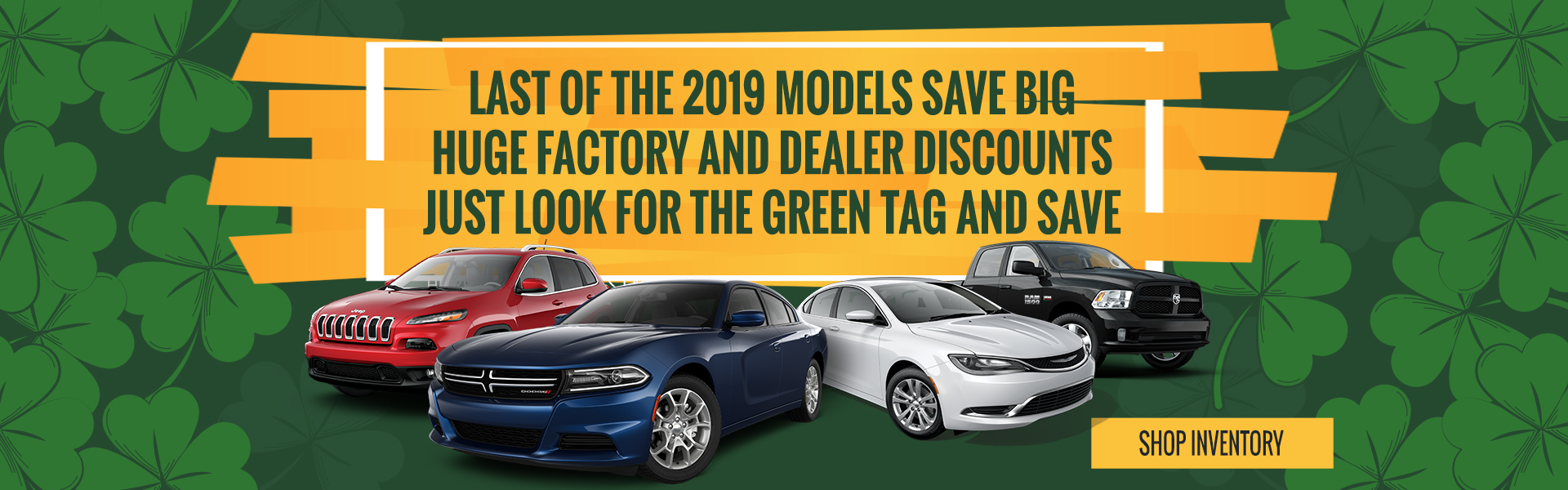 LAST OF THE 2019 MODELS SAVE BIG HUGE FACTORY AND DEALER DISCOUNTS JUST LOOK THE GREEN TAG AND SAVE