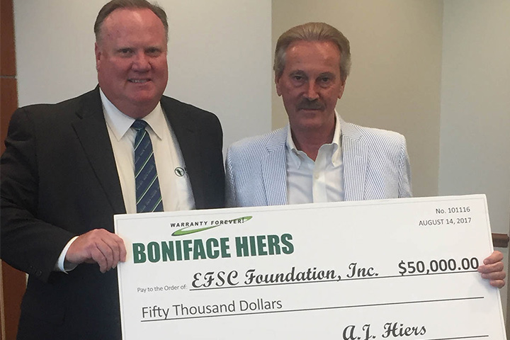 Eastern Florida State College Foundation Check presented