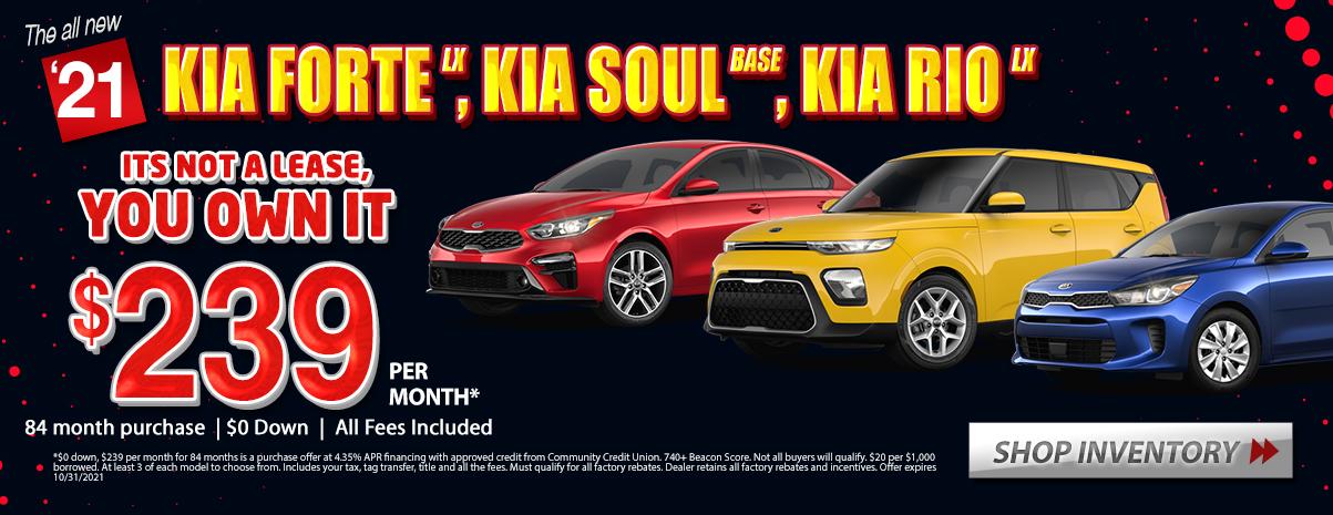 2019 Kia Forte LX Soul Base Rio LX Specials