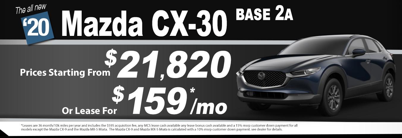 2020 Mazda CX-30 Lease Special