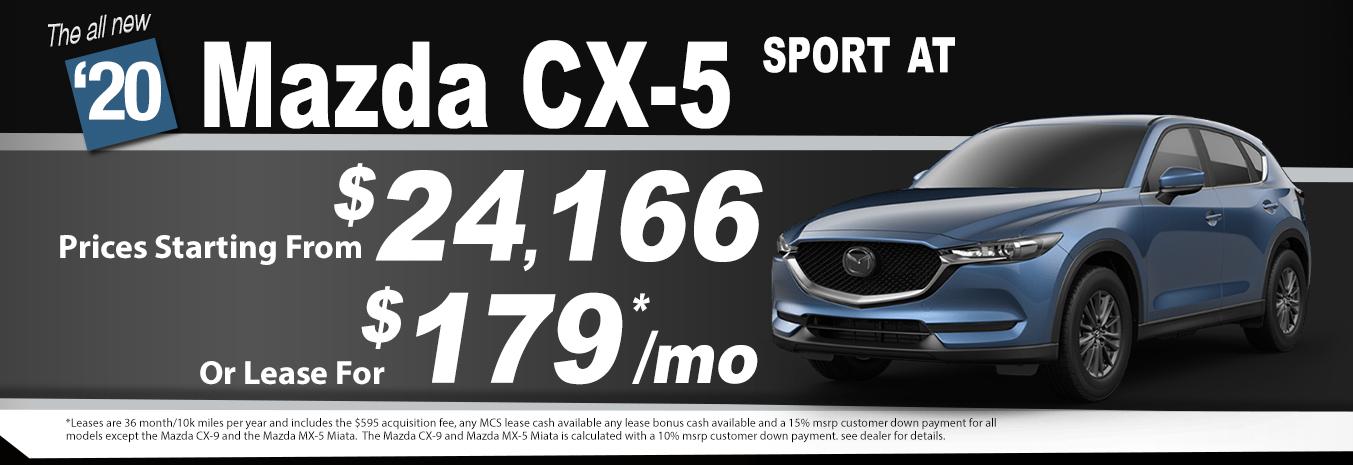 2020 Mazda CX-5 Lease Special