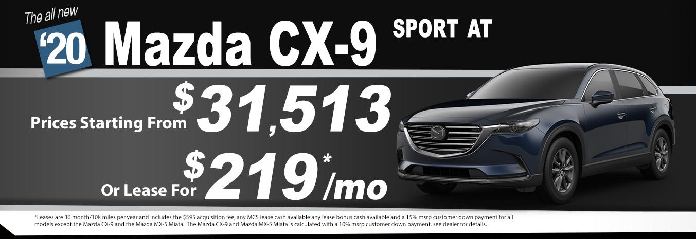 2020 Mazda CX-9 Lease Special