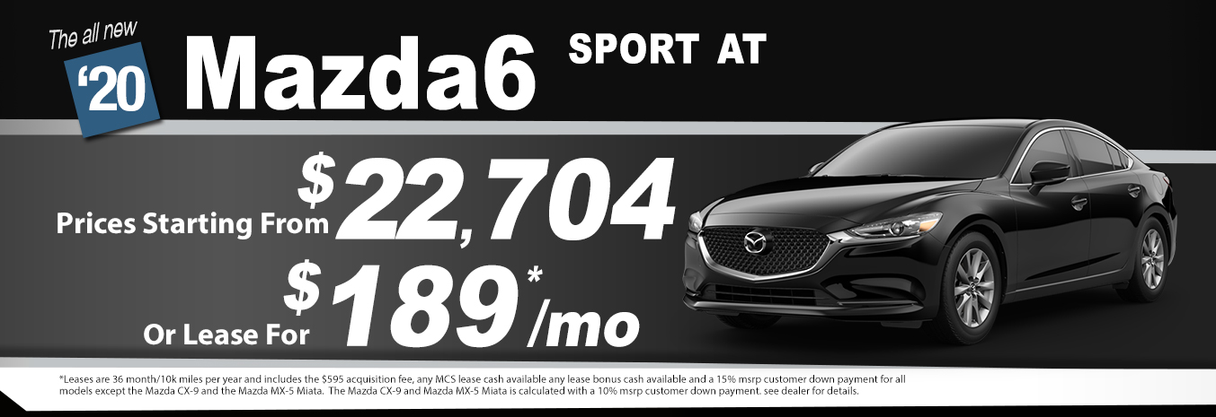 2020 Mazda6 Lease Special