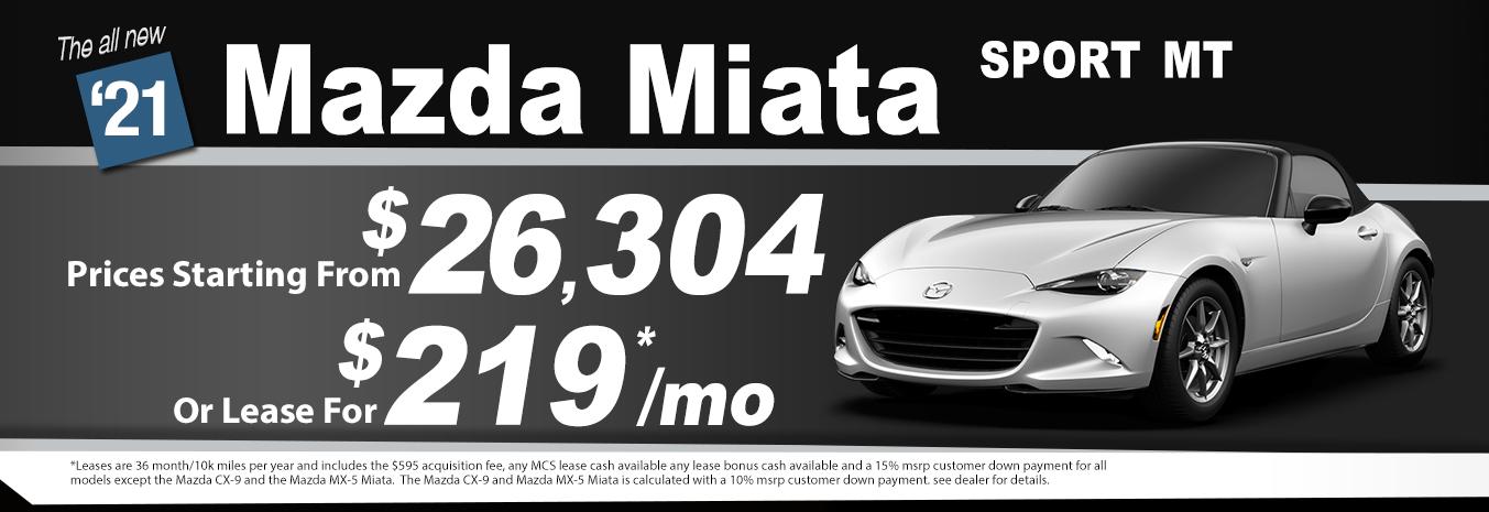 2020 Mazda Miata Lease Special