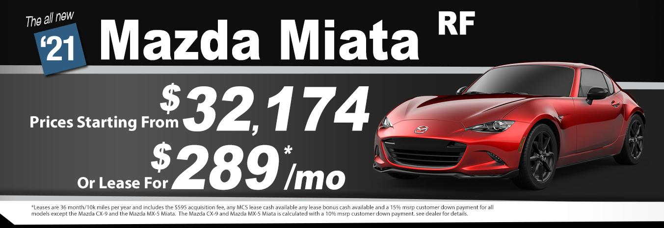 2020 Mazda Miata RF Lease Special