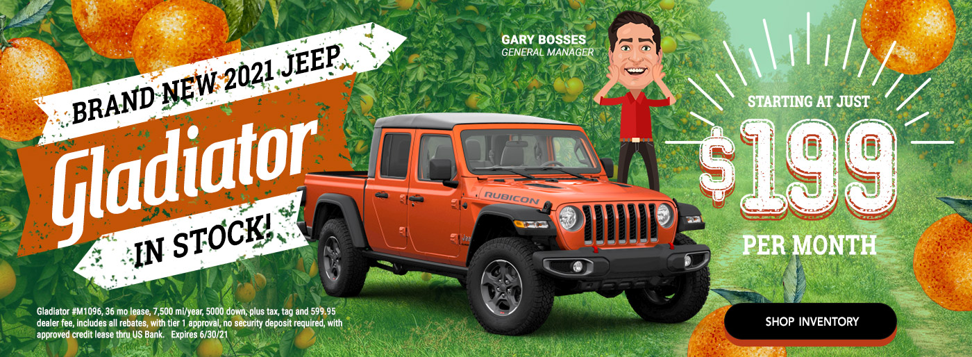 New Jeep Gladiator or Wrangler - Starting at $199 per month
